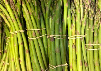 Stalks of fresh green asparagus.