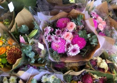 Bunches of beautiful flowers