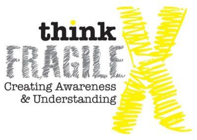 Think fragile - creating awareness and understanding logo